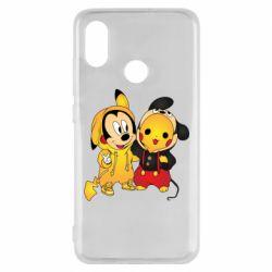 Чехол для Xiaomi Mi8 Mickey and Pikachu