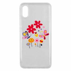 Чехол для Xiaomi Mi8 Pro Flowers and Butterflies