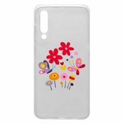 Чехол для Xiaomi Mi9 Flowers and Butterflies