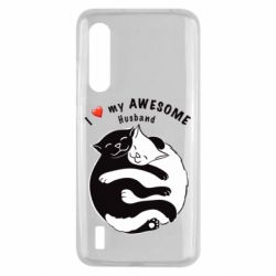 Чехол для Xiaomi Mi9 Lite Cats and love