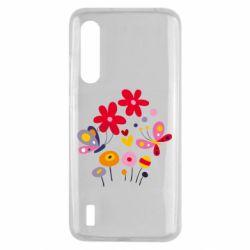 Чехол для Xiaomi Mi9 Lite Flowers and Butterflies
