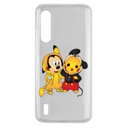 Чехол для Xiaomi Mi9 Lite Mickey and Pikachu