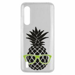 Чехол для Xiaomi Mi9 Lite Pineapple with glasses