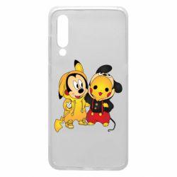 Чехол для Xiaomi Mi9 Mickey and Pikachu