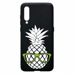 Чехол для Xiaomi Mi9 Pineapple with glasses