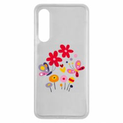Чехол для Xiaomi Mi9 SE Flowers and Butterflies
