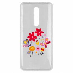 Чехол для Xiaomi Mi9T Flowers and Butterflies