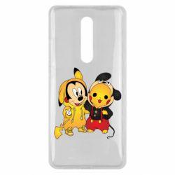 Чехол для Xiaomi Mi9T Mickey and Pikachu