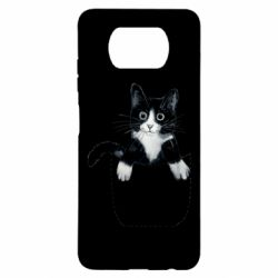 Чехол для Xiaomi Poco X3 Art cat in your pocket