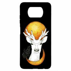 Чехол для Xiaomi Poco X3 Deer and moon