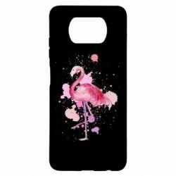 Чехол для Xiaomi Poco X3 Flamingo pink and spray