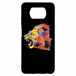 Чехол для Xiaomi Poco X3 Lion multicolor