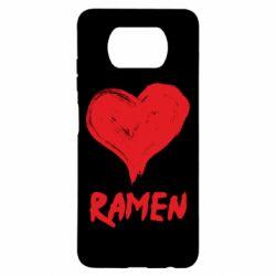 Чехол для Xiaomi Poco X3 Love ramen