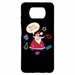 Чехол для Xiaomi Poco X3 Santa says merry christmas
