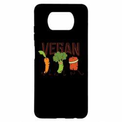 Чехол для Xiaomi Poco X3 Веган овощи