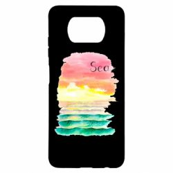 Чехол для Xiaomi Poco X3 Watercolor pattern with sea