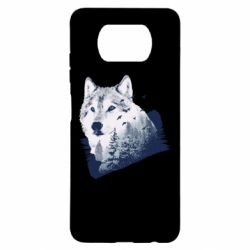 Чехол для Xiaomi Poco X3 Wolf and forest