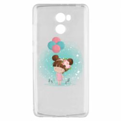Чехол для Xiaomi Redmi 4 Girl with balloons