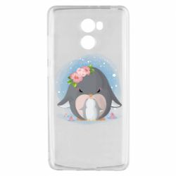 Чехол для Xiaomi Redmi 4 Two cute penguins
