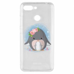 Чехол для Xiaomi Redmi 6 Two cute penguins