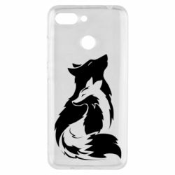 Чехол для Xiaomi Redmi 6 Wolf And Fox