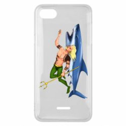 Чехол для Xiaomi Redmi 6A Aquaman with a shark