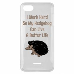 Чехол для Xiaomi Redmi 6A Hedgehog with text