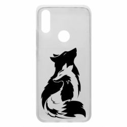 Чехол для Xiaomi Redmi 7 Wolf And Fox