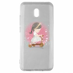 Чехол для Xiaomi Redmi 8A Cute Scooter Girl