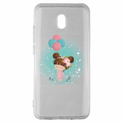 Чехол для Xiaomi Redmi 8A Girl with balloons