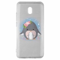 Чехол для Xiaomi Redmi 8A Two cute penguins