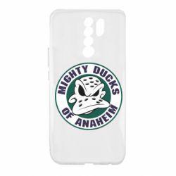 Чехол для Xiaomi Redmi 9 Anaheim Mighty Ducks Logo