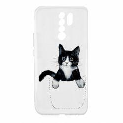 Чехол для Xiaomi Redmi 9 Art cat in your pocket