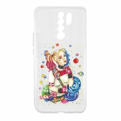 Чехол для Xiaomi Redmi 9 Bright Harley Quinn Vector