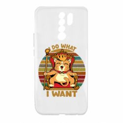 Чехол для Xiaomi Redmi 9 Cat king