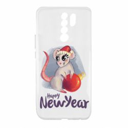 Чехол для Xiaomi Redmi 9 Christmas ball mouse
