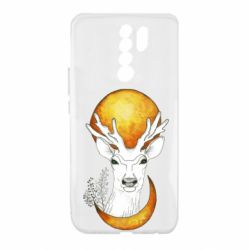Чехол для Xiaomi Redmi 9 Deer and moon
