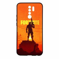 Чехол для Xiaomi Redmi 9 Fortnite minimalist silhouettes