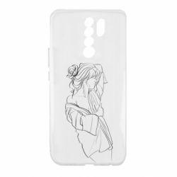 Чехол для Xiaomi Redmi 9 Girl after a shower
