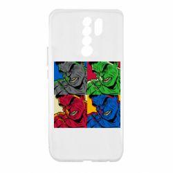 Чехол для Xiaomi Redmi 9 Hulk pop art