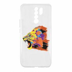 Чехол для Xiaomi Redmi 9 Lion multicolor