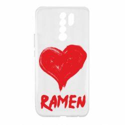 Чехол для Xiaomi Redmi 9 Love ramen