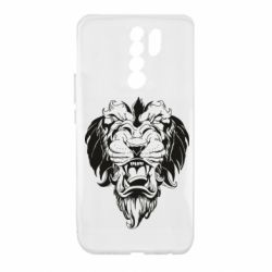 Чехол для Xiaomi Redmi 9 Muzzle of a lion