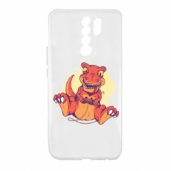 Чехол для Xiaomi Redmi 9 Playing dinosaur
