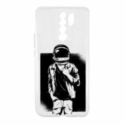 Чехол для Xiaomi Redmi 9 Рок Космонавт