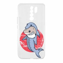 Чехол для Xiaomi Redmi 9 Shark or dolphin