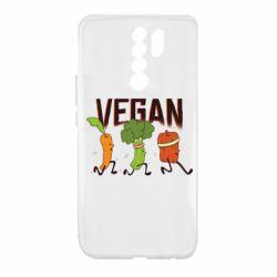 Чехол для Xiaomi Redmi 9 Веган овощи