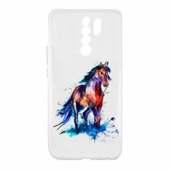 Чехол для Xiaomi Redmi 9 Watercolor horse