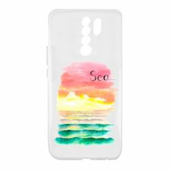 Чехол для Xiaomi Redmi 9 Watercolor pattern with sea