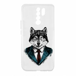 Чехол для Xiaomi Redmi 9 Wolf in costume